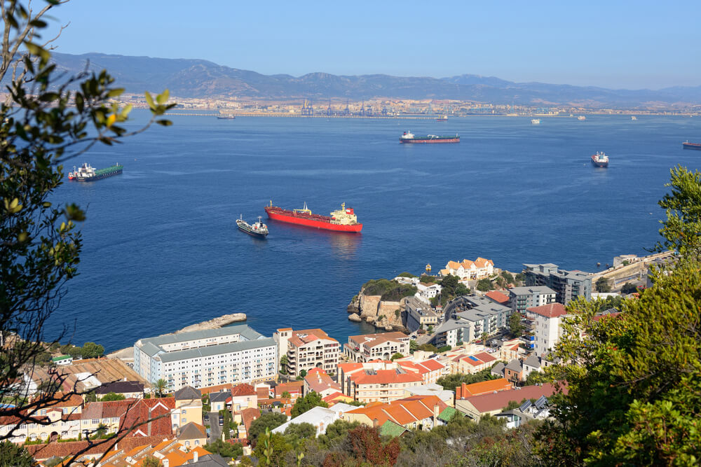 view of Gibraltar port area