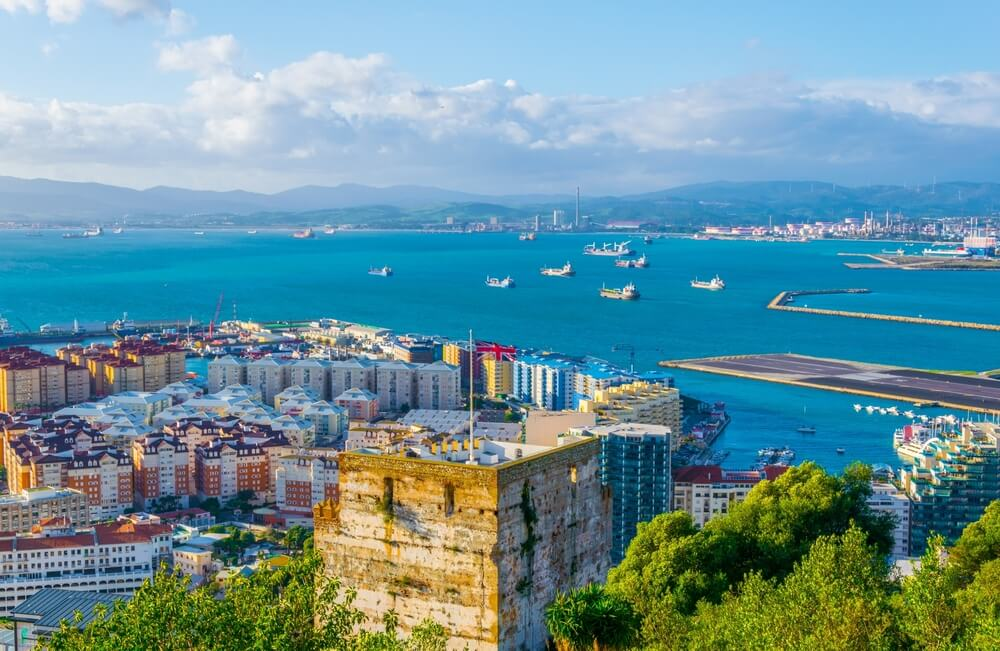 View of the moorish castle in gibraltar