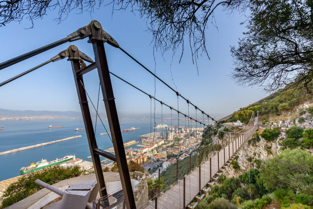 Windsor Suspension Bridge, Gibraltar - the thrill seekers trail