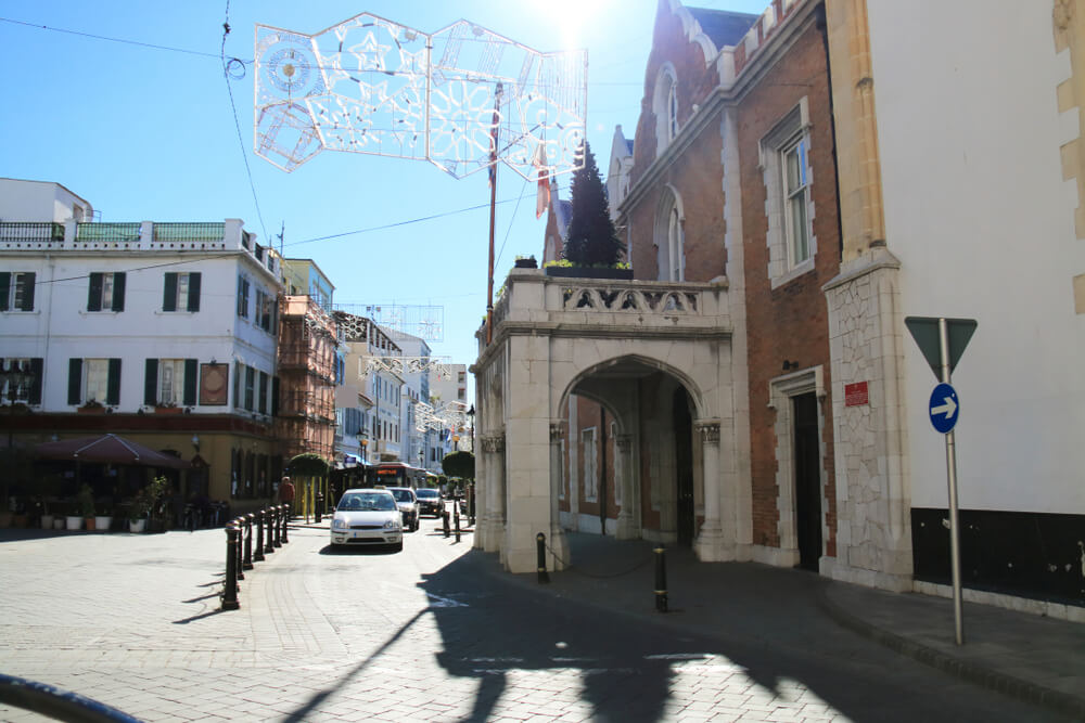 Gibraltar Main Street with The Convent